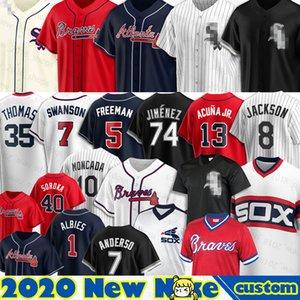 74 Eloy Jiménez Medias Blancas de New 8 Bo Jackson 10 Yoan Moncada 72 Carlton Fisk 79 José Abreu 35 Frank Thomas 30 Nomar Mazara béisbol