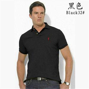 Alta calidad cocodrilo polo camisa de los hombres sólidos de lavado de algodón agua cortocircuitos del verano de Homme camisetas para hombre camisas de polos de la camisaRalph zz8Lauren