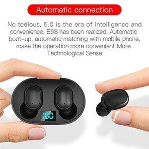 Cgjxsmini Tws Wireless Earbuds E6s Headphone Hifi Sound Bluetooth Headphone 5 .0 With Dual Mic Led Display Earphones Auto Pairing Headsets