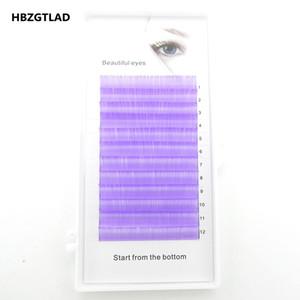 HBZGTLAD C D curl 0.07 0.1mm 8 15mm false lashes Rosemary purple eyelash individual colored lashes Faux volume eyelash extension