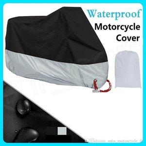 190T Su geçirmez Motosiklet Kapak Siyah Gümüş Kırmızı Mavi Çok Renkli Güneş Yağmura Karşı Koruma ve Toz HHA245