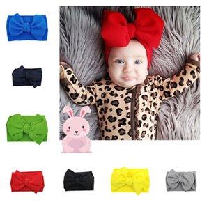 INS mignon bébé Bandeaux élastiques filles bébé Bandeaux Bandeaux enfant en bas âge Bow Bandeau Turban Couvre-chef bébé Head Wrap T2C5144
