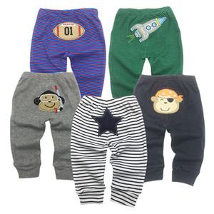 5pcs lot PP Pants 2019 Baby Fashion Model Babe Pants Cartoon Animal Printing Baby Trousers Kid Wear Baby Pants 0-24M MX200811