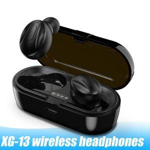 XG13 TWS البسيطة بلوتوث اللاسلكية سماعات الأذن 5.0 350MAH السماعات في الأذن سماعة مع الشحن مربع للجميع الهاتف العالمي