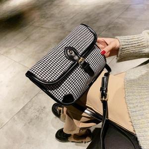 Designer-2019 Ampia moda tracolla Plaid Lady borsa a tracolla larga tracolla Donne Rivet Messenger Borse Yiming / 12