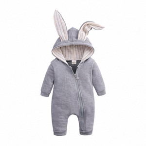 Baby Rompers Autumn Clothing Newborn Infant Baby Boy Girl Cotton Romper Knitted Ribbed Jumpsuit Solid Clothes Warm Outfit Hb9O#