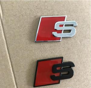 Metallo S Logo Sline distintivo dell'emblema autoadesivo Rosso Nero Anteriore Posteriore Boot Side Door In forma per l'Audi Quattro VW TT SQ5 S6 S7 A4 Accessori