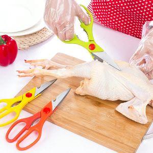 물고기 스케일러 가위 야채 가위 DH1469 T03 오리 주방 스테인레스 스틸 가위 미끄럼 방지 핸들 너트 펜치 병 오프너 치킨