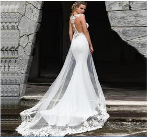 Vestidos De Novia Plus Size Satin Country Style Wedding Dresses Bridal Gowns Beach Vintage Rustic Boho Lace Mermaid Wedding Dress