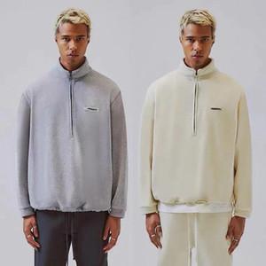 vente chaude 20FW FG classique Veste polaire solide Hommes Femmes High Street moitié Zipper Veste hiver chaud Manteaux Outdoor Sport Mode Outwear