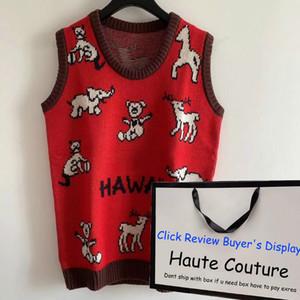 GXXXI ИТАЛИЯ Hwaii Мужские свитера 20FW Trendy Knit жилет мальчиков Hiphopwear с Animals Узор Женская мода пуловеры 2020 для оптовой продажи