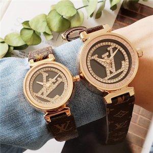 높은 품질 구리 다이얼 LV 시계 운명 패션 회전 로고 사람들이 최고의 선물 시계 '41mm 여성 시계 34mm 하이 엔드 애호가를보고