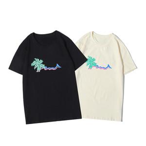 Moda hombre Camiseta para hombre de las mujeres de alta calidad de manga corta de color de costura Tees tamaño M-2XL