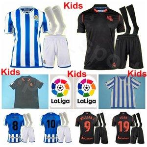 Çocuklar Real Sociedad Gençlik PORTU Futbol Forma Çorap Seti WILLIAN OYARZABAL ISAK JANUZAJ MERİNOS ZALDUA Ödegaard Çocuklar Futbol Gömlek Setleri