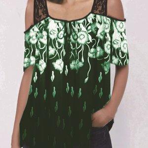 2020 코트 프린트 반소매 느슨한 T 셔츠 최고 2020 여성의 레이스 코트 실크 스크린 레이스 실크 스크린은 하시다 반소매 느슨한 T 셔츠를 인쇄
