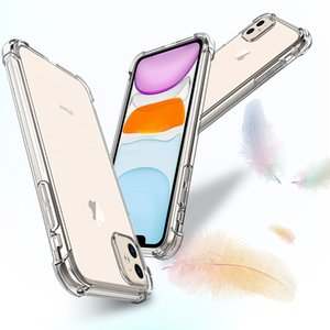 Shockproof Transparent Phone Case for iPhone11 11Pro Max X XS XS MAX XR 8 7 6 Plus Soft Gel TPU Case Clear Back Cover Free Shipping