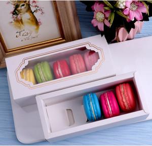 15pcs Macarons embalagem de presente Box Limpar janela embalagem Wedding Party Box cookies gaveta bolo de presente Saco dos doces