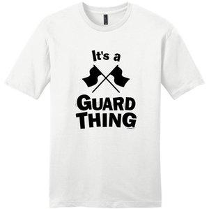 Erkekler için gömlek Satış Baskı Makinesi O-Yaka Kısa Kollu Renk Muhafız Bayraklar Colorguard onun bir Guard Şey T Gömlek