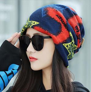 chaud chapeau d'hiver de femme capuche bib britannique multifonction en tricot GD577 chapeau