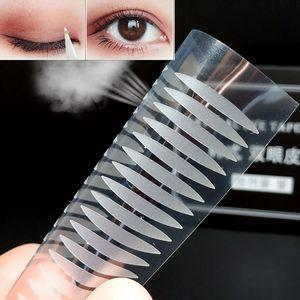 40PCS Popular Olive-shaped Lace Transparent Eyelid Sticker Invisible Eyelid Paste Self-adhesive Double Eye Tape Make Up Tool