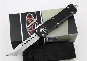 doppia azione tattica coltelli in alluminio coltello da tasca per rompere classe carburo di strumenti impugnatura automatica EDC 3 Stile automatico Microtech Troodon coltello