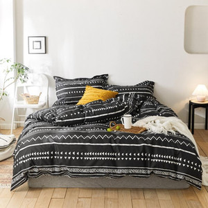 2020 New 100% Cotton Bohemia Bedding Set Printed Duvet Cover Sets Bed Sheet Pillowcases Single Queen King Size JPcs