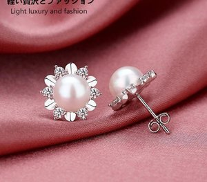 designer earrings Designer Charms Pearl ear-rings Suitable for Social gathering party Charm Ear jewelry 925 Silver Ohrringe wedding88