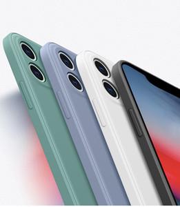 Luxus neues quadratisches flüssiges silikon-weiche Hülle für iPhone x XR xs max 11 pro max. 7 8 6 6S plus SE 2020 Vollschutz Telefonabdeckung