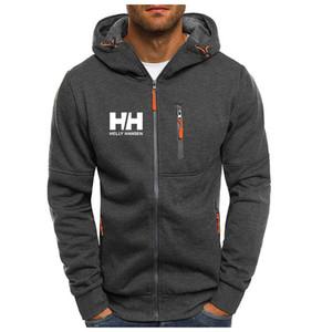 Мода Hoody Тонкая куртка HH печатных Мужские толстовки Толстовки с капюшоном Повседневная Coat Zip Кардиган