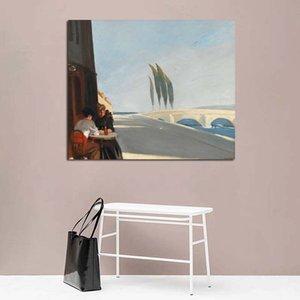 Cuadros Edward Hopper Poster Vintage Kanvas Salon Ev Dekorasyonu Modern Duvar Sanatı Yağ Posterler Resimler Boyama Boyama