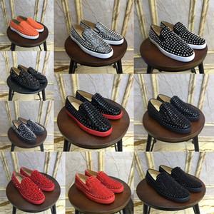 Yeni tasarımcı erkekler kadınlar pembe perçin uygun tembel gündelik parti elbise gündelik ayakkabı parlak