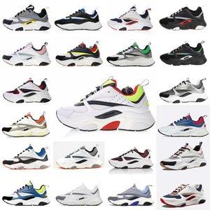 Dior B22 Sneaker Erkek Tasarımcı Ayakkabı bağbozumu Sneakers Tuval Ve Dana derisi Eğitmenler Lüks Unisex Düşük En Casual Ayakkabı 20color Büyük boy 35-4 Hxze #