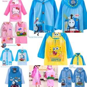 impermeable de W1gUp HdinO niños Capa corporal Ropa de la ropa del cuerpo jardín de infancia linda niña de dibujos animados engrosadas de la princesa niños de primaria
