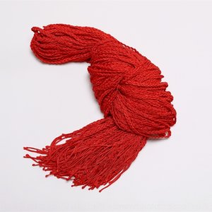 Ethnic cuerda Grupo tejido a mano, rojo, rojo de transferencia de cadena de la correa año cadena de la cintura chino cintura estilo étnico alta cuerda suerte Wn4By