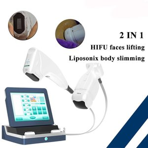 Portable 2IN1 HIFU Liposonix Machine HIFU Face Lifting Body Slimming Liposonic Fat Removal Liposonix hifu slimming Beauty Equipment On Sale
