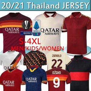 AS DE ROSSI Soccer ROMA DZEKO Zaniolo Rome TOTTI PEROTTI KOLAROV 20 chemise 21 football 2020 2021 hommes + uniformes kit enfants MAILLOT thaï