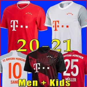 كيت 20 21 بايرن ميونيخ SANE لكرة القدم جيرسي LEWANDOWSKI HERNANDEZ قميص كرة القدم للرجال + الاطفال ال120 120 سنة MUNCHEN 2020 2021