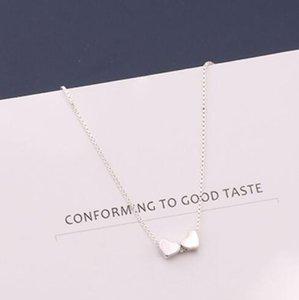 Schmuck S925sterling silberne Halskette für Frauen Versand kleinen silbernen Würfel Halskette einfach heiße Art und Weise frei