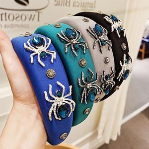 Sıcak Satış Popüler Örümcek Matkap Zinciri Hairband Barok Tarzı Kişiselleştirilmiş Moda Yüksek Sınıf Sünger Kafa Hairpin 4 Renkler Toptan