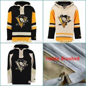Pittsburgh Penguins personalizado Hockey Jersey Hoodie Sittched Nome Número personalizadas Jerseys hoodies camisolas