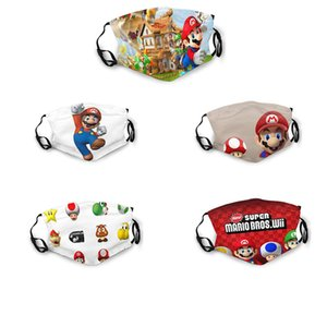 Yeni moda komik Super Mario çift taraflı baskı toz maskesi, yumuşak nefes ve ayarlanabilir Yetişkin tozsuz nakliye maskelemek olduğu