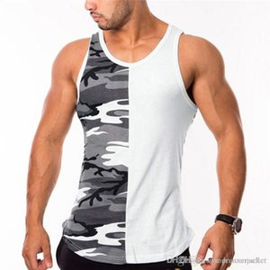 Neck Gym Tank Top Mens Designer Tshirt Mens Bodybuilding Sports Sleeveless Vest Summer Designer Fitness Scoop