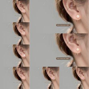 F1mWo Iroch s925 earringshipster orecchino earringsPearl borchie gancio per l'orecchio breve piccola perla temperamento stile coreano argento orecchio ragazza orecchini oAG0R