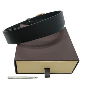 Cinturones para hombre correa de la manera cinturones de los hombres del cuero cinturones Negro Mujeres de Negocios de Gran hebilla de oro para mujer clásico Ceinture casual con Orange Box 56 4875