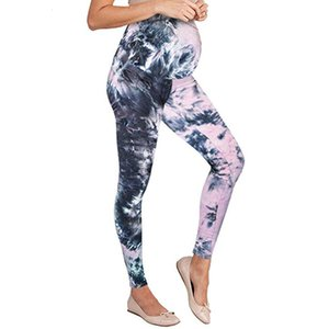 Women's Maternity Cotton Skinny Maternity Leggings Autumn Seamless Printing Slim Pants Clothes for Pregnant Women Belly