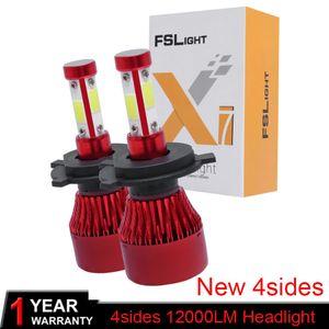 Elglux 2Pcs LED H4 H7 H13 Car Headlight Bulbs H16 9005 9006 H8 9012 9004 3 4 9007 H11 LED Bulb 12000LM 6000K Auto 12 24V