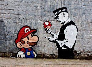 Banksy Art Works Super Mario Home Decor расписанная HD Печать картина масло на холст Wall Art Холст картинки 200901