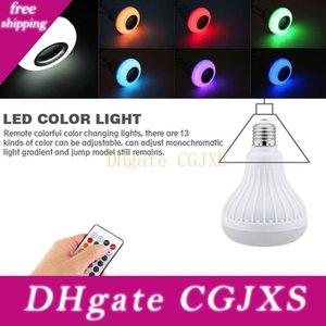 E27 Светодиодная лампа 12W Rgb Bluetooth Speaker Музыка Шарик Dimmable беспроводной Красочный светодиодные лампочки с 24 кнопочный пульт дистанционного управления