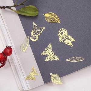 Faire de bijoux Composants Constats 10pcs / Lot de cuivre creux papillon résultats Fin Perles Cap Filigrane en vrac Spacer perles pour les bijoux bricolage