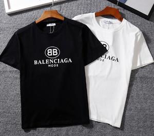 22 cor bb MODO letra impressa ocasional o-pescoço T-shirt pares de moda de manga curta top de algodão T-shirt puro Tees estilo camisas do hip-hop